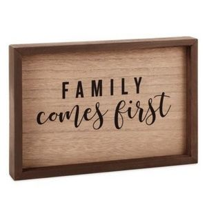 HALLMARK Family Comes First Framed Wood Quote Sign